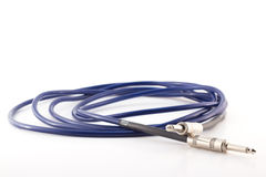 Guitar amp cord coiled Stock Images