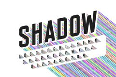 Free Long Colorful Shadow Font Royalty Free Stock Image - 126763246