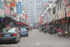 Long commercial pedestrian street in GuiLin,china Stock Photo