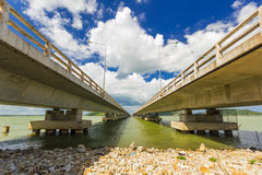 Long Concrete Bridge at Koh yo Thailand Stock Images
