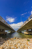 Long Concrete Bridge at Koh yo Thailand Royalty Free Stock Photos