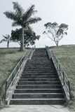 Steps Staircase Hillside Aged Photo Royalty Free Stock Images