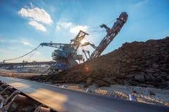 Long conveyor belt transporting ore Royalty Free Stock Photography