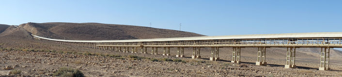 Long conveyor Stock Image