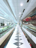 Long corridor. In the airport Royalty Free Stock Images
