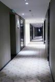 Long corridor. In modern hotel stock photos