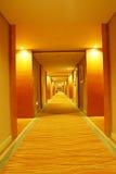 Long corridor. In modern hotel stock photo