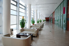 Long corridor. In the business hotel Stock Image