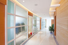 By the long corridor. The house by the long corridor Stock Photography