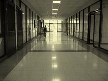 Long Corridor. That is part of a modern office building Royalty Free Stock Photo