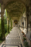 Long corridor. Great looking cemetery, old style in croatia Stock Photography