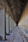Long Corridor in Angkor Wat Stock Photography
