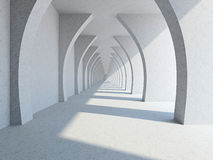 A long corridor Royalty Free Stock Photos