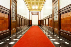 Long corridor of historic building Stock Image