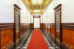 Long corridor of historic building Stock Photography