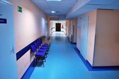 Long corridor in the hospital. stock photos