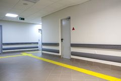 Long corridor in hospital. Clinic Stock Images