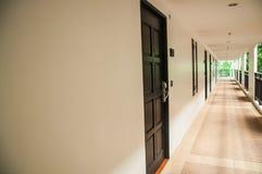 Long corridor in hotel Royalty Free Stock Photos