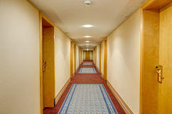 Long corridor in hotel Stock Image