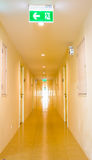 Long corridor in hotel Royalty Free Stock Image