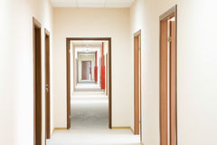 Long Corridor In Hotel Royalty Free Stock Photo