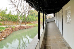 The Long Corridor in Humble Administrator's Garden Stock Photo