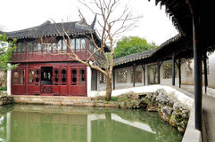 The Long Corridor in Humble Administrator's Garden. Humble Administrator's Garden is the representative works of Chinese Jiangnan classical garden.In 1997 was stock image