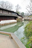 The Long Corridor in Humble Administrator's Garden. Humble Administrator's Garden is the representative works of Chinese Jiangnan classical garden.In 1997 was stock images