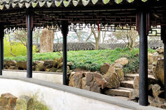 The Long Corridor in Humble Administrator's Garden. Humble Administrator's Garden is the representative works of Chinese Jiangnan classical garden.In 1997 was stock photo