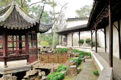 The Long Corridor in Humble Administrator's Garden Royalty Free Stock Image