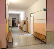 Inside a school without kids royalty free stock images