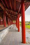 Long Corridor. The Long Corridor next to the Can Thanh Palace Site in the Imperial City, Hue, Vietnam Royalty Free Stock Photography