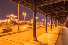 The long corridor at night Stock Photos
