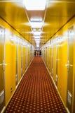 Long Corridor Of Cruise Ship Royalty Free Stock Image