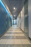 Long corridor in office. Design of interior.Long corridor in office Stock Image