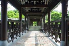 Long corridor in outdoor park Stock Photography