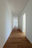 Long corridor with parquet floor Royalty Free Stock Photo