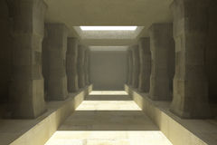 Long corridor of pillars Royalty Free Stock Photo