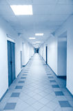 Long corridor in scientific laboratory Stock Photography