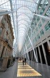 Long corridor of shopping center. The photo was taken in the shopping center of Toronto City, Ontario, Canada Royalty Free Stock Photography