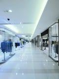 Long corridor and showcase. Long corridor showcase in department store Stock Photos