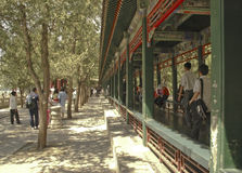 The Long Corridor at the Summer Palace Beijing Stock Photo