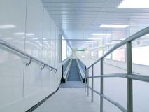 Long corridor in underground passage Royalty Free Stock Image