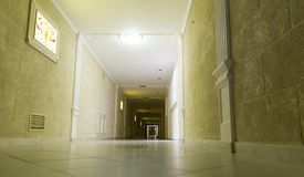 Long corridor Stock Images