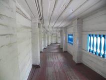 Long corridors of Kiev Pechersk Lavra royalty free stock images