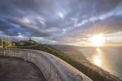 Long coucher du soleil d'exposition Photos libres de droits