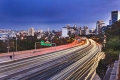 Long coucher du soleil latéral de Sydneyu Cahill Images libres de droits
