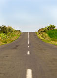 Long Country Road with Markings Royalty Free Stock Images