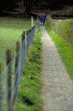 Long countryside hike. Long walk in the countryside / farm Royalty Free Stock Image