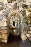 Courses inside Suomenlinna fortress walls in Helsinki. Long courses inside Suomenlinna thick fortress walls in Helsinki, Finland Royalty Free Stock Images